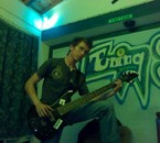 WSith my Bass guitar at my room