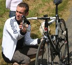 Max qui règles mes vitesses au Championnat de Bretagne