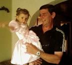 Morgane et son père le lendemain de son baptème