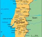*La carte  du Portugal*