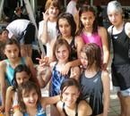 Mon Groupe de filles de natation à Pamier