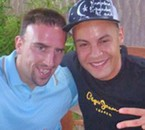 Avec Franck Ribery