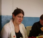 katia lors d'un diner pour le televie