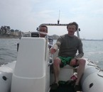 une viré en mer pres des ramparts à St Malo çà décoiffe fort
