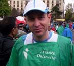 Moi a l'arrivée du marathon de PARIS