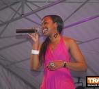 Jessye Belleval sur le podium de TRACE FM en Martinique