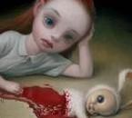 une petit fille seul