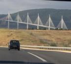 le pont de millau photos prise dans la voiture