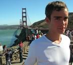 devant le golden gates bridge !!!!