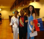 haiti avec miss guadeloupe 2009 et miss hibiscus guadeloupe