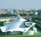 Vue du futur centre Pompidou METZ
