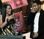 Aaliyah et son frère Rashad lors des Video Music Awards 2001