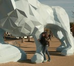 Moi et le lion géan XD