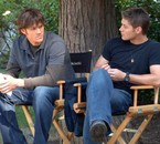 on the set of Supernatural