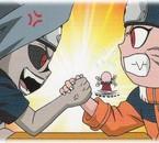 Sasuke et Naruto aux bras de fer
