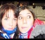 Moi et Carole lors du match OL/ Le Mans ^^