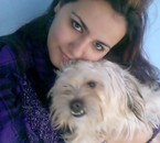 with my dog