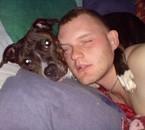 mon gros bb a mwa avec son chien