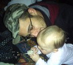 mon chéri et ma nièce..