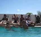 La bande a la piscine ché larry