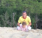 la dune du Pila avec Maëlys ma grande
