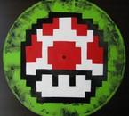 "Pixel Art-""Mushroom"" picture disc"
