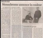 Monochrome dans le PROGRES de Lyon