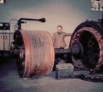 vue éclatée d'un moteur électrique: stator et le rotor