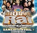 AFFICHE CONCERT URBAN RAI LE 11 AVRIL AU ZENITH DE PARIS!!!!
