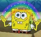 """Sponge Bob en train de mettre en évidence """"l'imagination"""""""