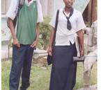 the king et sa copine dalida ELIA au jour de l'examen d'etat