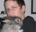 mon lapin(Smack) et moi