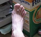 mon pied droite