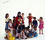Michael with children