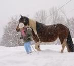 Lorenza et moi dans la neige x33'