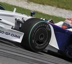 Kubica en action pendant les essais privés