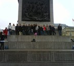 London 2oo9. Nous sur Trafalguar Square.