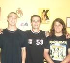 Moi(gauche), Fabrice(milieu) et Arnaud, mon frère(droite)