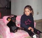 ma fouine avec son chien