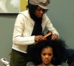 Teyana Taylor avec lace wig...