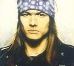 Magnifique aquarelle du -superbe- chanteur de Guns'n'Roses !