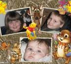 Océane 8,5ans,Logan 6ans,Alycia 9 mois