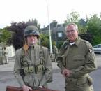 moi à gauche et mon ami belge joël