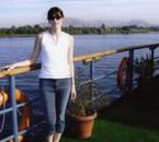 Petite vue d'un paysage sur le Nil derrière moi