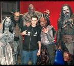 avec le groupe Lordi en backstage à Lyon
