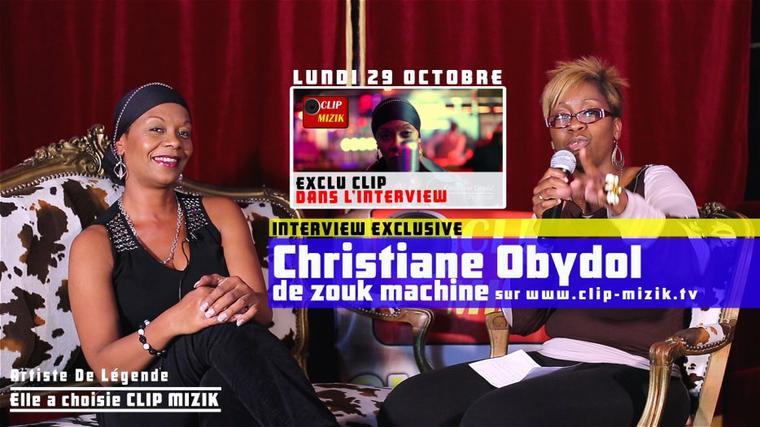 Christiane Obydol de Zouk Machine lundi sur www.clip-mizik.tv