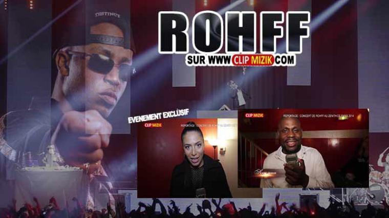 Rohff soutenu par Zaho, Kery James, Amel Bent REPORTAGE