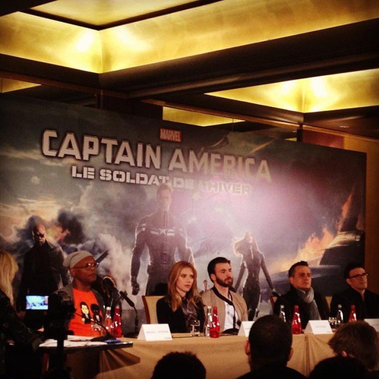 Conférence de Presse Captain America