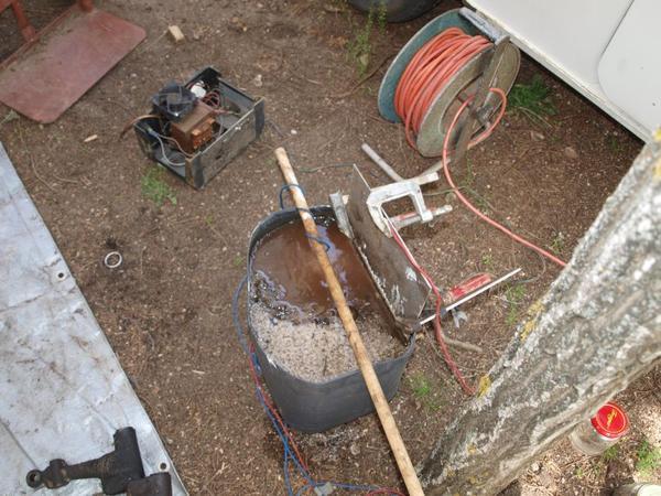 electrolyse - derouillage - décapage (essai )