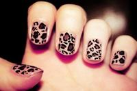Nail art #1 Vernis léopard